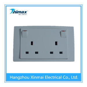 PC406wh 13A 2 Gang Switched Socket, Single Pole pictures & photos