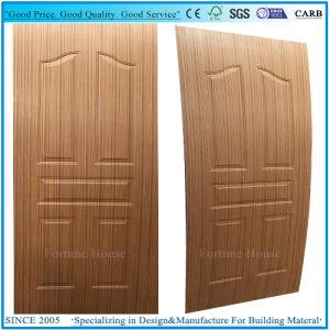 Molded Panel Door Skin Plywood with EV-Teak Wood Veneer pictures & photos