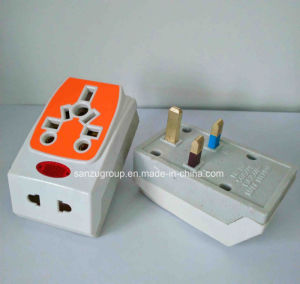 Factory Wholesale Multiplug Ceramic Plug Top 13A Plug Adaptor pictures & photos