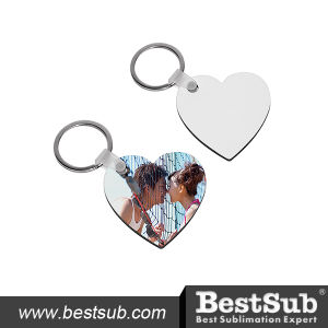 Bestsub Heart Shaped Hardboard Key Ring (MYA06) pictures & photos