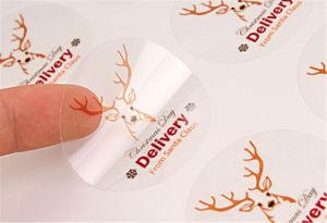 Custom Transparent Self-Adhesive Die Cut Vinyl Sticker pictures & photos