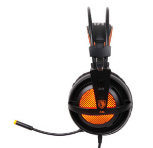Sades A6 7.1 USB Stereo Gaming Headphone Noise-Cancelling Headset with Mic LED Light pictures & photos