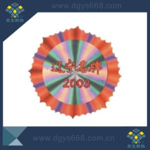 Customized Design Flower Shape Securiy Laser Hologram Sticker pictures & photos