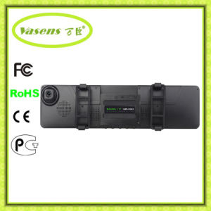 HD 4.3′′dual Lens Video Recorder Dash Cam Rearview Mirror Full HD Car Camera DVR pictures & photos
