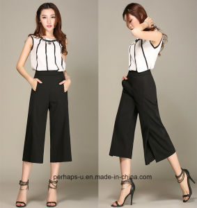New Collection Ladies Palazzo Pants with Slit Design on Knee pictures & photos