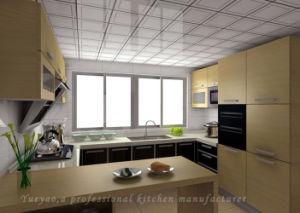 Wooden Kitchen Furniture MFC Door Panel Modern Kitchen Cabinet (M019)