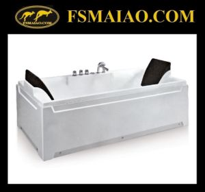 High Quality Rectangle 2-Seat Acrylic Freestanding Bathtub (BA-8708) pictures & photos