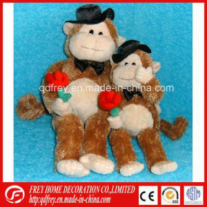 Soft Valentine′s Day Gift of Plush Monkey Toy pictures & photos