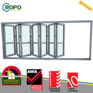 Anti Theft Security UPVC/PVC Plastic Sliding Folding Glass Door pictures & photos