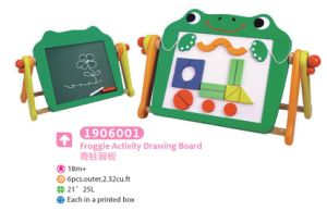 Wooden Multifunctional Drawing Board Magnetic Board Blackboard with Blocks for Kids Educational Toys Drawing Toys pictures & photos