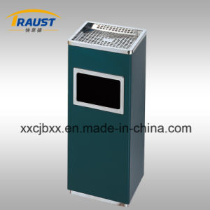 Square Shopping Mall Stainless Steel Trash Bin - 14L pictures & photos