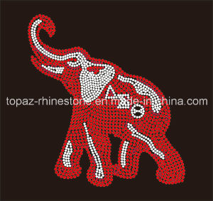 Newest Custom Crystal Rhinestone Iron on Motif for Shoes (TM/Elephant-89) pictures & photos
