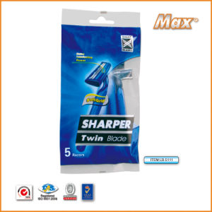 Twin Stainless Steel Blade Disposable Shaving Razor for Man (LB-5111) pictures & photos