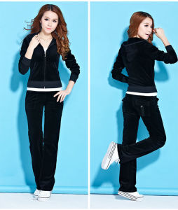 Women Fashion Cotton Velvet Suit (ELTTSJ-47) pictures & photos