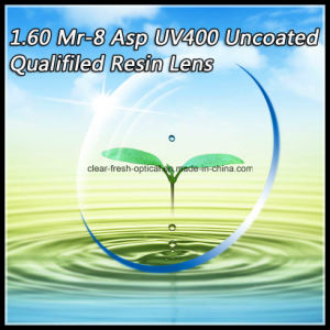 1.60 Mr-8 Asp UV400 Uncoated Qualifiled Resin Lens