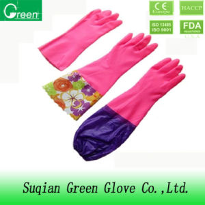 Long Cuff Garden PVC Household Gloves pictures & photos