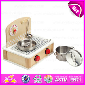 Newest Design Kids Cooking Play Wooden Toy Kitchen Play Set for Children Pretend Play W10c159 pictures & photos