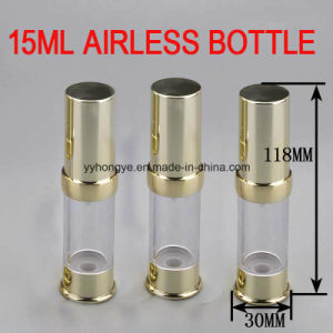 High Quality 15ml Gold Airless Packaging Bottle/Cosmetic Bottle pictures & photos