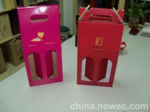 Black Cardboard Single Wine Bottle Gift Box Wholesale with Foam Insert pictures & photos