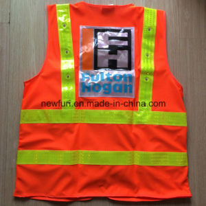 High Quality Best Selling Orange Reflective Safety Vest (accept customized) pictures & photos