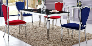 Wholesale Foshan Stainless Steel Dining Room Glass Table pictures & photos