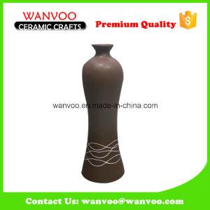 Excellent Brown Home Decor Ceramic Flask Vase pictures & photos