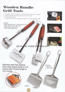Wood Handle BBQ Grill Tools pictures & photos