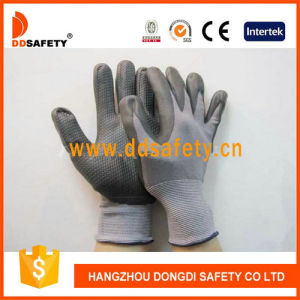Ddsafety 2017 Grey Nylon Black PU Glove pictures & photos