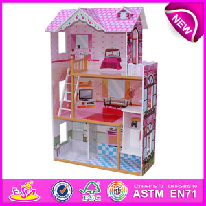 2016 New Design Wooden Doll House, Most Popular Wooden Doll House, High Quality Wooden Toy Doll House W06A092 pictures & photos