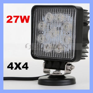 Square Shape 27W LED Work Light Flood Beam 12V 24V SUV ATV Offroad Truck LED 27W LED Working Light pictures & photos