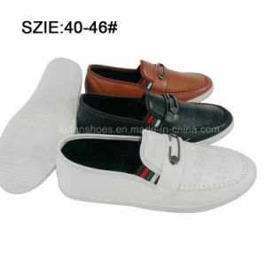 New Style Fashion Men′s Slip on Injection Casual Shoes Leather Shoes (MP16721-17) pictures & photos
