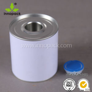 Leakproof Glue Pot Gum Liquid Vessle Silver Metal Tin Can with Leaf Lid pictures & photos