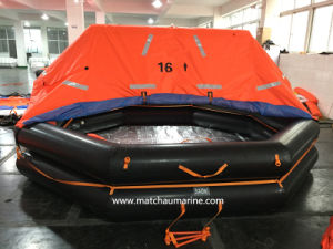 Solas Inflatable 6 Men Container a Pack Life Raft pictures & photos