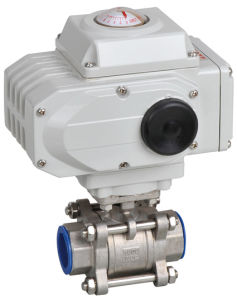 Klqd Brand Stainless Steel Electrical Actuated 2PC Ball Valve pictures & photos