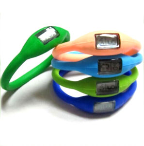 Promotion Silicone Band Watch with Logo Printed (4008)