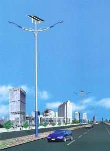 Double 60W 100W Solar Powered LED Street Lighting for Road Path Garden Square pictures & photos