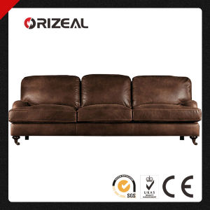 Orizeal English Roll Arm Genuine Leather Sofa (OZ-LS-2025) pictures & photos