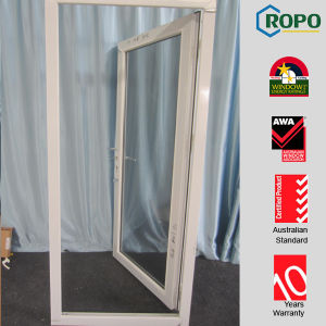 Plastic Single Panel Door Design with Tempered Glass for Villa pictures & photos
