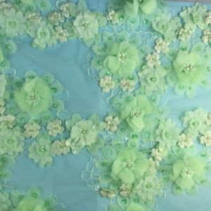 Beautiful Lovely Flower Lace Fabric for Dress pictures & photos