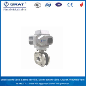 Flange Connection Electric Short Ball Valve pictures & photos