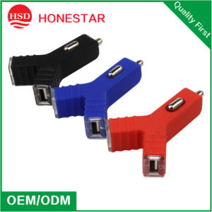2015 Very Fashion Y Style Dual USB Car Charger pictures & photos