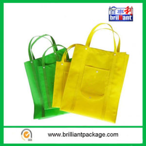 Green Classic Foldable Non-Woven Bags pictures & photos