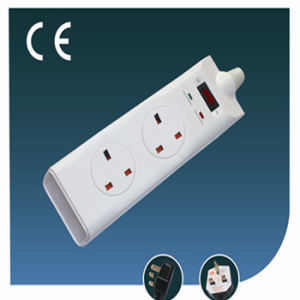 Four Ways British Socket with USB and Green Line pictures & photos
