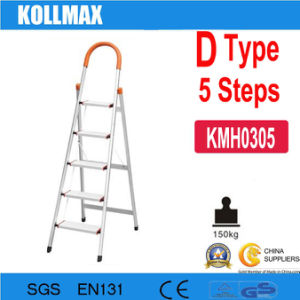 5 Steps D Type Household Aluminum Ladder pictures & photos