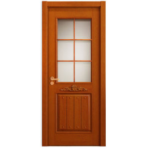 Oppein Oak Wood Carving Security Door for Glass (MSZD02) pictures & photos