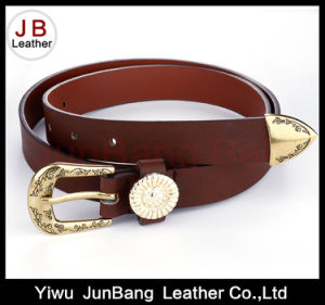 New PU Fashion Women Belts with Metal Loop and End pictures & photos