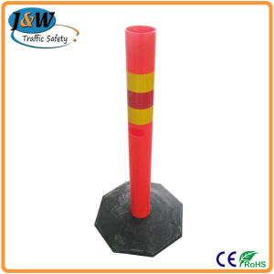Warning Delineator Post for Crowd Control, Flexible Road Bollard pictures & photos