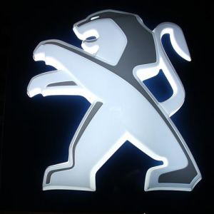 Car Showroom Advertising Acrylic LED Illuminated Car Logo pictures & photos