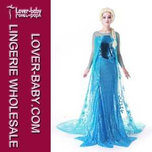 Girls Princess Anna Elsa Cosplay Costume (L15348) pictures & photos