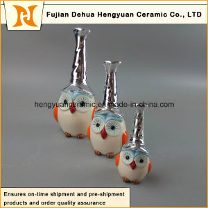 New Design Ceramic Hand-Made Colorful Owl pictures & photos